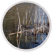 Reflections On The Yellow River Round Beach Towel