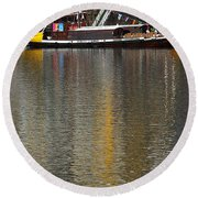 Reflections On Water Round Beach Towel
