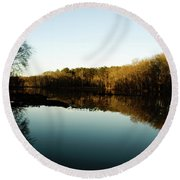 Reflections Round Beach Towel by Valeria Donaldson