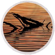 Reflective Abstract Round Beach Towel