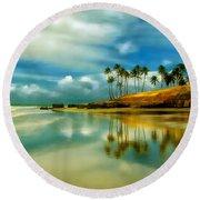 Reflective Beach Round Beach Towel