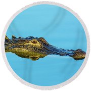 Reflective Gator Round Beach Towel