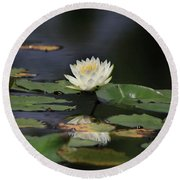 Reflective Lilly Round Beach Towel