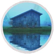 Reflective Morning Round Beach Towel