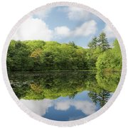 Reflecton On Tranquility Round Beach Towel