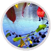 Refreshing View Round Beach Towel