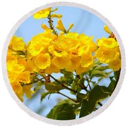Refreshing Yellows Round Beach Towel