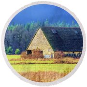Refuge Barn Round Beach Towel