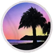 Refugio Point 1 Round Beach Towel