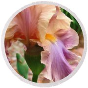 Regal Flower Round Beach Towel