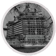 Regal Princess Hamilton Round Beach Towel