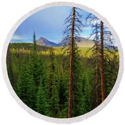 Reids Peak Round Beach Towel