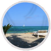 Relax And Enjoy Round Beach Towel