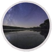 Relax And Look At The Stars Round Beach Towel