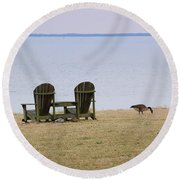 Relax Round Beach Towel by Debbi Granruth