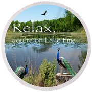 Relax Lake Time-jp2737 Round Beach Towel