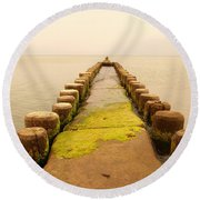 Relaxation 1 Round Beach Towel