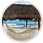 Relaxation Defined Round Beach Towel