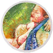 Relaxation II Round Beach Towel