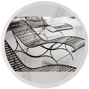 Relaxation Round Beach Towel by Marilyn Hunt