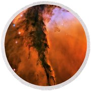 Release - Eagle Nebula 1 Round Beach Towel by Jennifer Rondinelli Reilly - Fine Art Photography