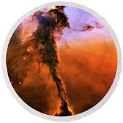 Release - Eagle Nebula 2 Round Beach Towel by Jennifer Rondinelli Reilly - Fine Art Photography
