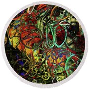 Release Valve Abstract Round Beach Towel