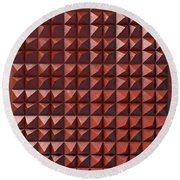 Relief C2 Red Metallic Round Beach Towel