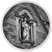 Religious Icon Nenagh Ireland Round Beach Towel