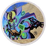 Reloaded Or Education Is A Powerful Weapon Mural -- 2 Round Beach Towel