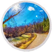 Reluctant Ontario Spring 3 - Paint Round Beach Towel
