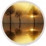 Remains Of The Day Round Beach Towel by Jacky Gerritsen