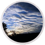 Remarkable Sky Round Beach Towel