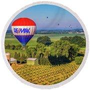 Remax Hot Air Balloon Ride Round Beach Towel