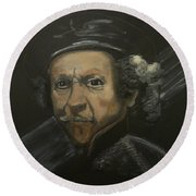 Rembrandt And Colour Round Beach Towel