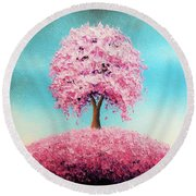 Remember The Bloom Round Beach Towel