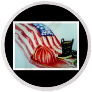 Remembering 9/11 Round Beach Towel