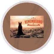 Remembering A Lifetime Round Beach Towel by Kathy Tarochione