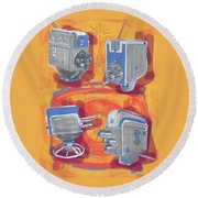 Remembering Television Round Beach Towel
