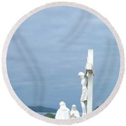 Remembering The Sacrifice Round Beach Towel