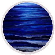 Remembering The Waves Round Beach Towel