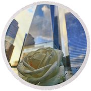 Remembering With A Rose Round Beach Towel