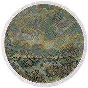 Reminiscence Of Brabant Saint Remy De Provence March - April 1890 Vincent Van Gogh 1853  1890 Round Beach Towel