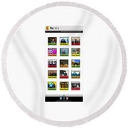 Remix - Artists Page  Round Beach Towel