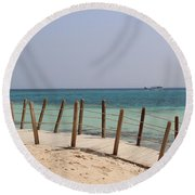 Remote Island  Round Beach Towel