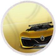 Renault Sport Spider 4k Round Beach Towel