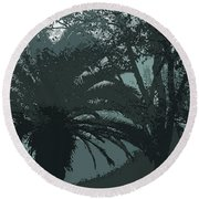 Rendezvous In The Fog Round Beach Towel