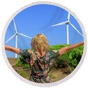Renewable Energy Concept Round Beach Towel