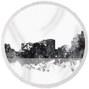 Reno Nevada Skyline Round Beach Towel
