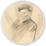 Renoir (first Plate) Round Beach Towel